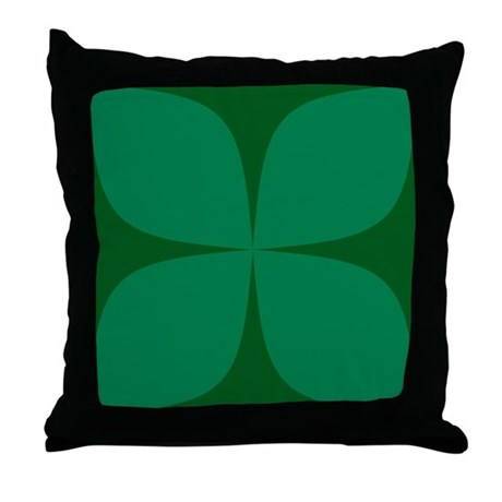 Dark green Retro Throw Pillow
