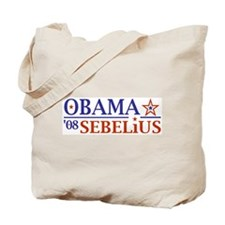 Obama Sebelius 08 Tote Bag