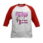 At Least I can Fish! Kids Baseball Jersey
