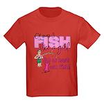 At Least I can Fish! Kids Dark T-Shirt