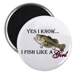 Fish like a girl Magnet