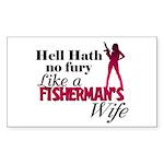 Fisherman's Wife Rectangle Sticker