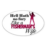 Fisherman's Wife Oval Sticker