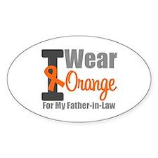 I Wear Orange (FIL) Oval Sticker (10 pk)