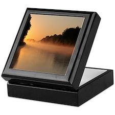 Mississippi River Sunrise, Keepsake Box