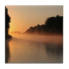 Mississippi River Sunrise, Tile Coaster