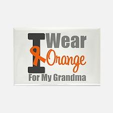 I Wear Orange (Grandma) Rectangle Magnet