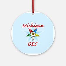 Michigan Eastern Star Ornament (Round)