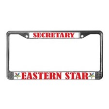 OES Secretary License Plate Frame