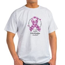 Fibromyalgia Butterfly Ribbon T-Shirt