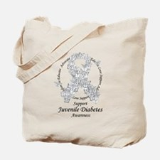 JD Butterfly Ribbon Tote Bag