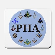 PHA Square and Compass Mousepad