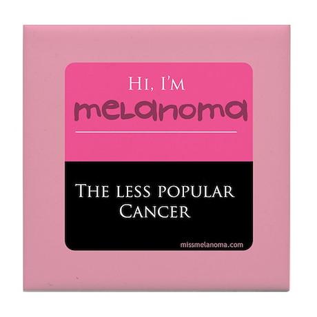 Miss Melanoma Tile Coaster