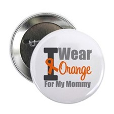 "I Wear Orange For My Mommy 2.25"" Button (10 pack)"