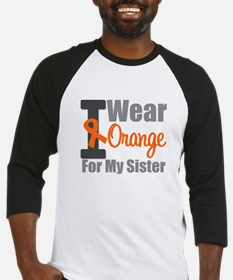 I Wear Orange (Sister) Baseball Jersey