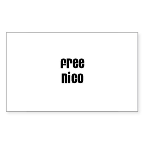 Free Nico Rectangle Sticker