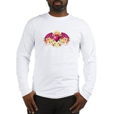 Winged Buring Heart Long Sleeve T-Shirt