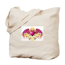 Winged Buring Heart Tote Bag