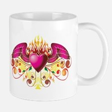 Winged Buring Heart Mug