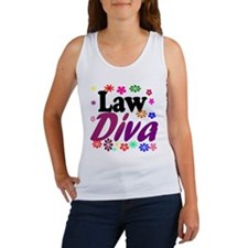 Law Diva (flowers) Women's Tank Top