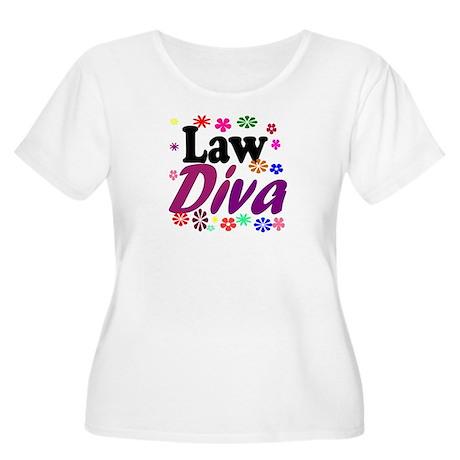 Law Diva (flowers) Women's Plus Size Scoop Neck T-
