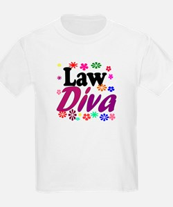 Law Diva (flowers) T-Shirt