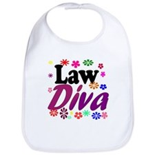 Law Diva (flowers) Bib
