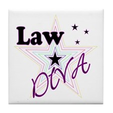 Law Diva (Star) Tile Coaster
