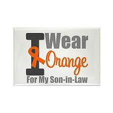 I Wear Orange (SIL) Rectangle Magnet