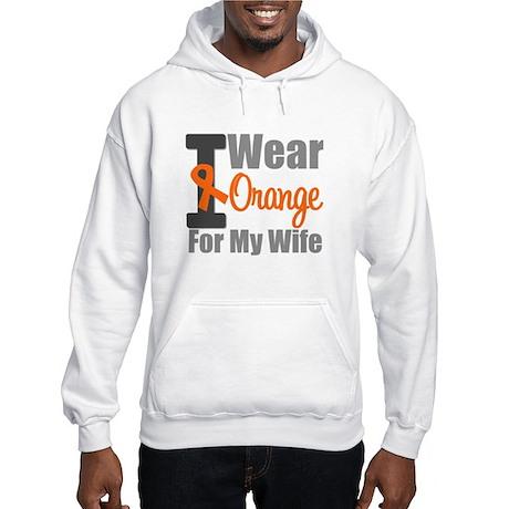 I Wear Orange (Wife) Hooded Sweatshirt