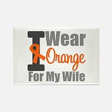 I Wear Orange (Wife) Rectangle Magnet (10 pack)