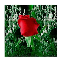 Red Rose Tile Coaster