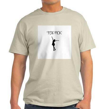 Toe Pick Ice Skating Ash Grey T-Shirt