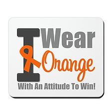 I Wear Orange (Attitude) Mousepad