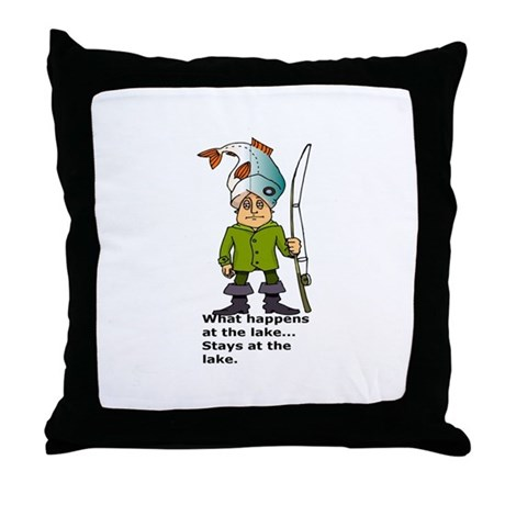 What happens at the lake...fi Throw Pillow