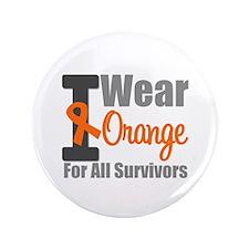 """I Wear Orange (Survivors) 3.5"""" Button"""