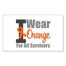 I Wear Orange (Survivors) Rectangle Sticker 10 pk
