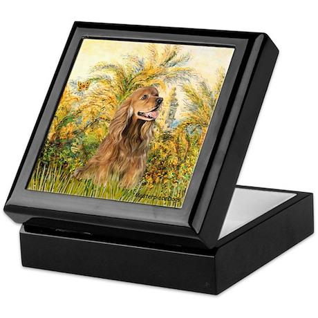 Palms/Cocker Spaniel (brown) Keepsake Box