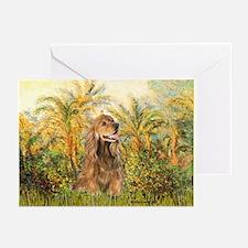 Palms/Cocker Spaniel (brown) Greeting Cards (Pk of