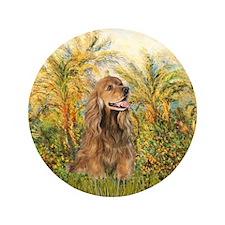"Palms/Cocker Spaniel (brown) 3.5"" Button (100 pack"