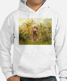 Palms/Cocker Spaniel (brown) Hoodie