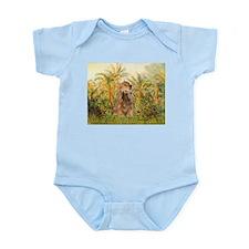 Palms/Cocker Spaniel (brown) Infant Bodysuit