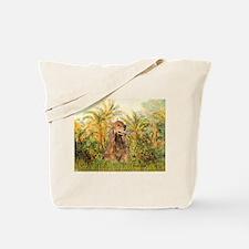 Palms/Cocker Spaniel (brown) Tote Bag