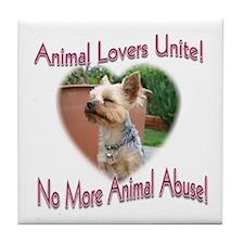 Animal Lovers Unite! Tile Coaster