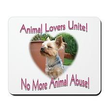 Animal Lovers Unite! Mousepad