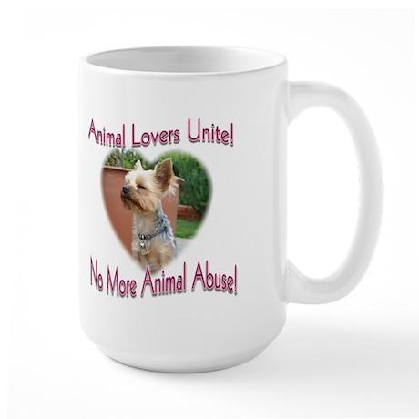Animal Lovers Unite! Large Mug (2-sided)