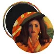 Anne Bonny and the Orange Rog Magnet