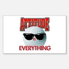 Attitude is Everything - Golf Rectangle Decal