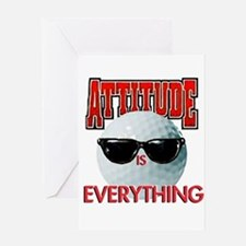 Attitude is Everything - Golf Greeting Card