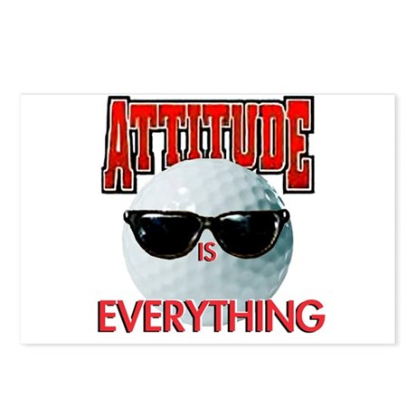 Attitude is Everything - Golf Postcards (Package o
